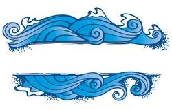 ramvatten för element fyra royaltyfri illustrationer