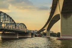Ramy 3 bridżowy mroczny widok Obrazy Royalty Free