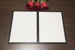 Ramy i róże Obrazy Stock