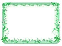 ramy kwiecisty zielone roczne Zdjęcia Royalty Free