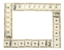 ramy odizolowywającej zrobić dolarów Obrazy Stock
