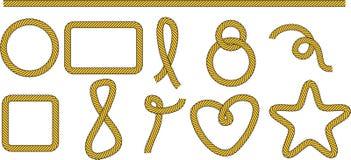 ramy ustawiający kształty Obraz Royalty Free