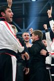 Ramzan Kadyrov Dancingowa lezginka fotografia stock