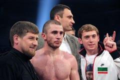 Ramzan Kadyrov i Zaurbek Baysangurov zdjęcie stock