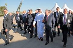 Ramzan Kadyrov, Mohammed al Nahyan and Abdullah II al-Hussein Royalty Free Stock Image