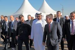 Ramzan Kadyrov, Mohammed al Nahyan y Abdullah II al-Hussein imagen de archivo libre de regalías