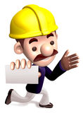 Ran a construction site staff Royalty Free Stock Photo