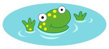 Rana in acqua Royalty Illustrazione gratis