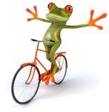 Rana con una bicicletta