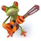 Rana con una guitarra Fotos de archivo