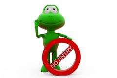 rana 3d ningún concepto de la entrada Imagen de archivo libre de regalías