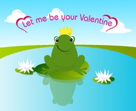 Rana de la tarjeta del día de San Valentín ilustración del vector