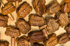 Rana de madera Imagen de archivo
