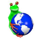 rana del fumetto 3D - concetto della terra Immagine Stock Libera da Diritti