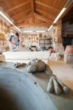 Rana fatta di argilla fresca Fotografia Stock