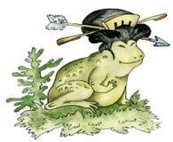 Rana - geisha stock de ilustración