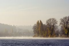 rana jesieni rzeki Obrazy Royalty Free