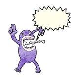 rana pazza del fumetto con il fumetto Immagine Stock Libera da Diritti