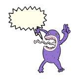 rana pazza del fumetto con il fumetto Fotografia Stock Libera da Diritti