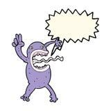 rana pazza del fumetto con il fumetto Immagine Stock