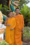 Rana pescatrice buddista Immagini Stock