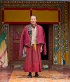 Rana pescatrice tibetana anziana Fotografia Stock Libera da Diritti