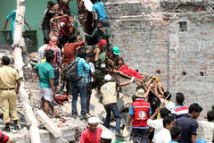 Rana plaza collapsed Royalty Free Stock Image