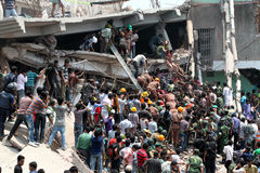 Rana plaza collapsed Stock Photo