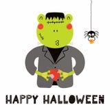 Rana sveglia in costume di Halloween royalty illustrazione gratis