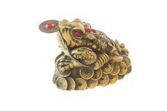 Rana Three-legged, simbolo di Feng-Shui Fotografie Stock