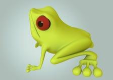 rana verde 3D Fotografia Stock Libera da Diritti