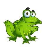 Rana verde de la diversión del vector Fotos de archivo