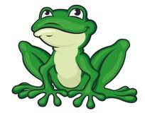 Rana verde de la historieta ilustración del vector