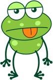Rana verde en humor apático stock de ilustración