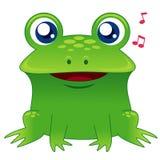 Rana verde que canta Imagen de archivo libre de regalías