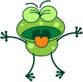 Rana verde que expresa repugnancia stock de ilustración