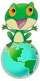 Rana verde su terra royalty illustrazione gratis