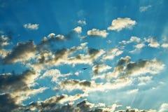 rana zachmurzone niebo Obrazy Royalty Free