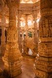Ranakpur耆那教的寺庙 免版税库存图片