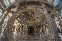 Free Ranakpur, India - February 2, 2017: Interior Of The Majestic Jainist Temple At Ranakpur, Rajasthan, India. Architectural Details O Royalty Free Stock Photos - 91933348