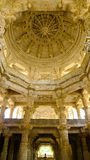 Ranakpur Jain Temple inner dome. Inner view of main dome of Ranakpur Jain temple, Rajasthan, India Royalty Free Stock Photo