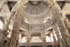 Ranakpur jain temple, Rajasthan. Stock Photo
