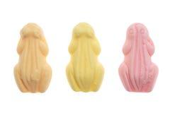 Ranas coloridas Sinterklaas de los dulces Imagen de archivo