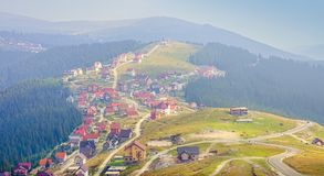 Ranca mountain resort in Romania. Transalpina pass Stock Photo
