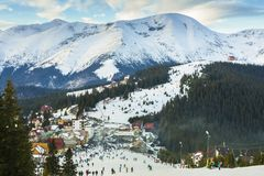 Ranca Ski Resort, Romania fotografia stock libera da diritti
