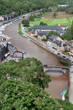 Rance River in Dinan, France. The Rance River flows through the medieval village of Dinan in the Brittany region of France Royalty Free Stock Photo