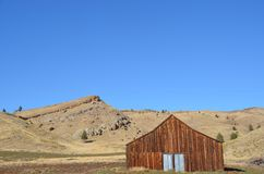 Ranch Barn in Central Oregon. This is a ranch barn in a small Central Oregon valley royalty free stock image