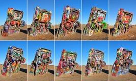 Ranch de Cadillac, Amarillio, le Texas Etats-Unis photographie stock libre de droits
