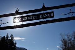 Ranch de deux criques - Utah Photographie stock