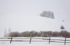 Ranch della montagna nell'inverno Fotografie Stock Libere da Diritti